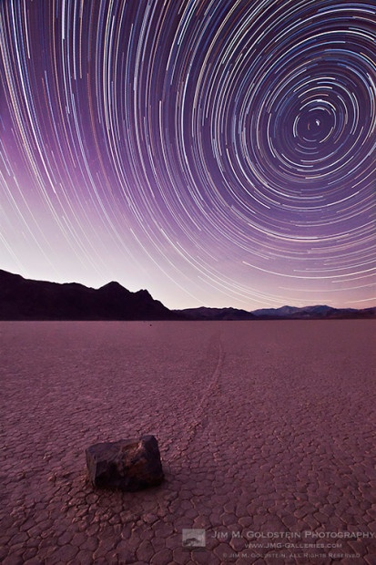 Racetrack Star Trails.