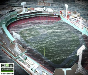 Artist's rendering of Fenway Park underwater (ELM Action Fund)